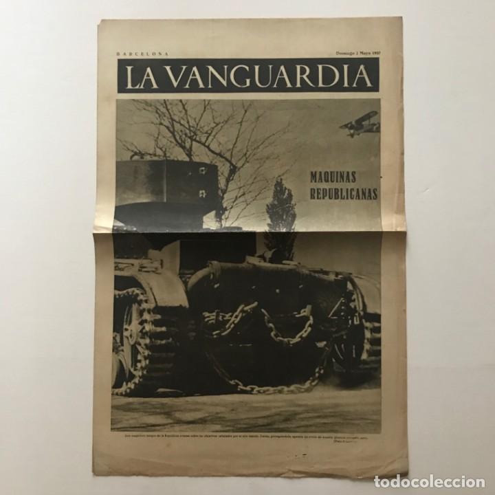 Coleccionismo de Revistas y Periódicos: 1937 La Vanguardia 32,7x49 cm - Foto 2 - 159407186