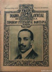 1929 Diario Oficial de la Exposición Internacional Barcelona