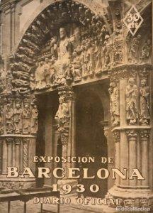 Exposición de Barcelona 1930 Diario Oficial