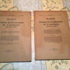 Coleccionismo de Revistas y Periódicos: ANTIGUOS 2 BOLETÍN BUTLLETÍ DEL CENTRE EXCURSIONISTA DE CATALUNYA CLUB ALPÍ CATALÀ AÑO 1931. Lote 159584350