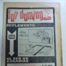 Coleccionismo de Revistas y Periódicos: DON DOMINGO. SUPLEMENTO HUMORÍSTICO DE EL ECO DE CANARIAS. . Lote 159603774