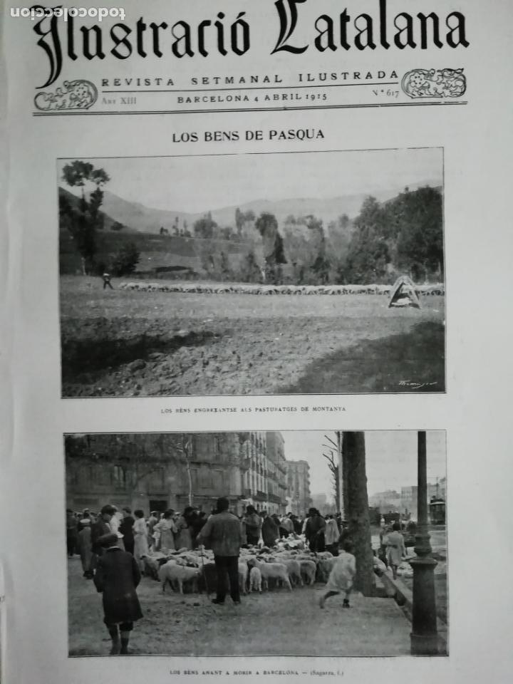 ILUSTRACIÓ CATALANA Nº617 1915 LES POBLACIONS DEVALLS D'ANDORRA S. COLOMA ORDINO MOSQUERA ENCAMP (Coleccionismo - Revistas y Periódicos Antiguos (hasta 1.939))