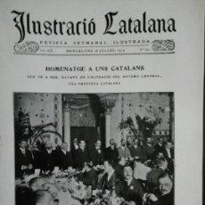 Coleccionismo de Revistas y Periódicos: REVISTA ILUSTRACIÓ CATALANA Nº623 1915 BENEDICCIÓ D'UNA CAMPANA AL GARRAF. Lote 159763806