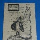 Coleccionismo de Revistas y Periódicos: (M) REVISTA LA ESQUELLA DE LA TORRATXA BARCELONA 1898 NUM 1014 ANY 20 , SEÑALES DE USO NORMALES. Lote 159977086