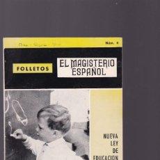 Coleccionismo de Revistas y Periódicos: EL MAGISTERIO ESPAÑOL - FOLLETO Nº 4 - NUEVA LEY DE EDUCACION PRIMARIA 1968. Lote 160000078