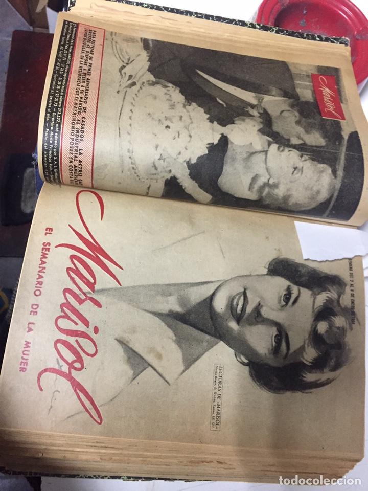 Coleccionismo de Revistas y Periódicos: Revistas Marisol semanario de la mujer año 1955/56 encuadernado - Foto 8 - 157898322