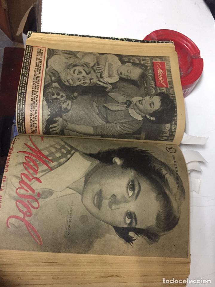 Coleccionismo de Revistas y Periódicos: Revistas Marisol semanario de la mujer año 1955/56 encuadernado - Foto 9 - 157898322