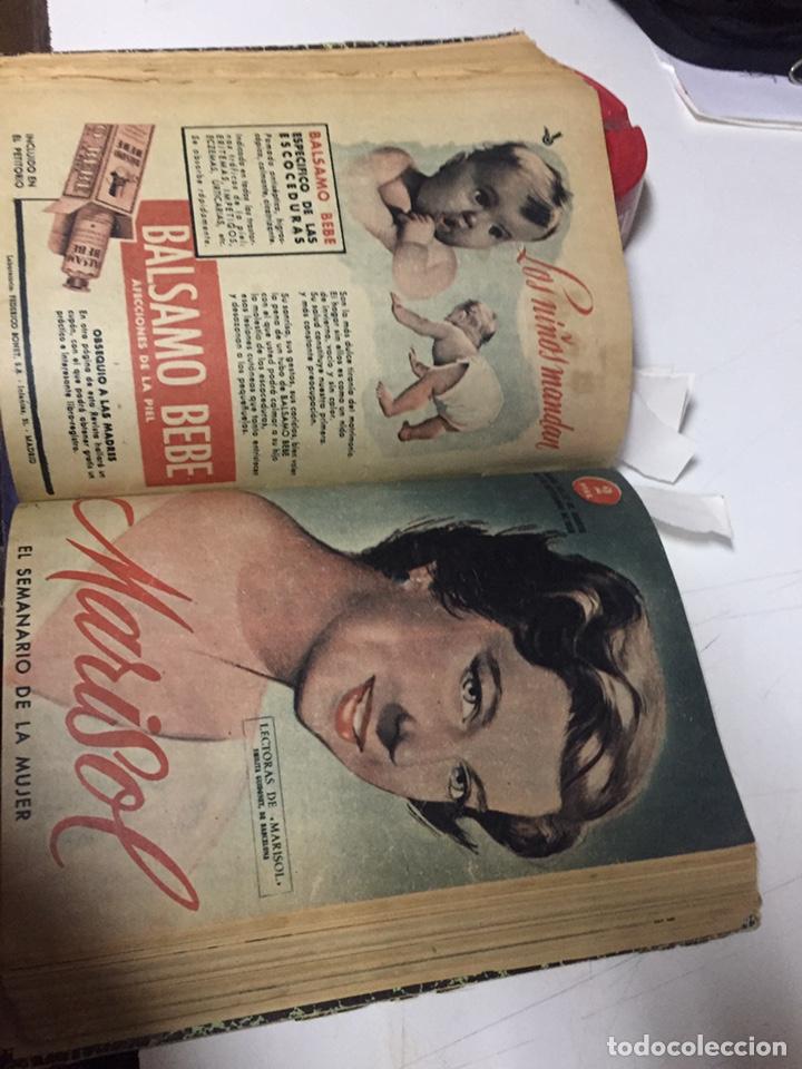 Coleccionismo de Revistas y Periódicos: Revistas Marisol semanario de la mujer año 1955/56 encuadernado - Foto 10 - 157898322