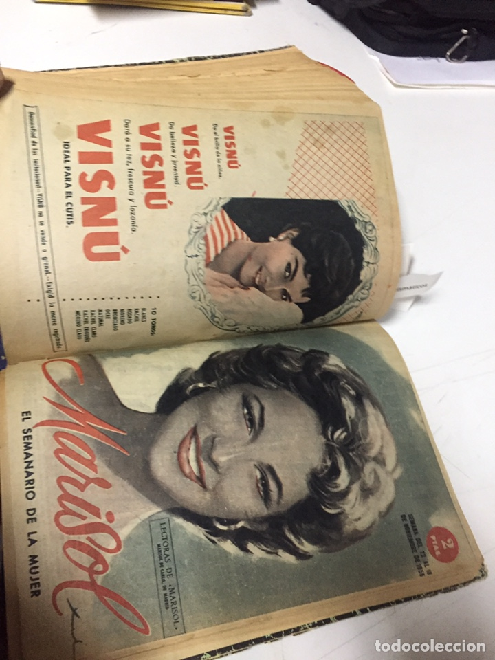 Coleccionismo de Revistas y Periódicos: Revistas Marisol semanario de la mujer año 1955/56 encuadernado - Foto 11 - 157898322