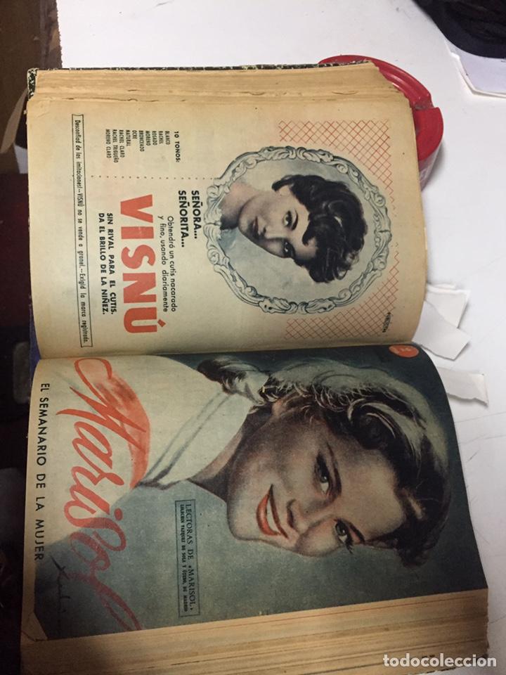 Coleccionismo de Revistas y Periódicos: Revistas Marisol semanario de la mujer año 1955/56 encuadernado - Foto 14 - 157898322