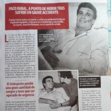 Coleccionismo de Revistas y Periódicos: PACO RABAL. Lote 160204970