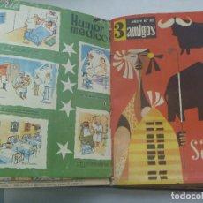 Coleccionismo de Revistas y Periódicos: 3 AMIGOS , AÑOS 60,TOMO ENCUADERNADO CON BASTANTES NUMEROS DE LA REVISTA: TINTIN, ETC. Lote 160278234