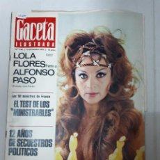Collectionnisme de Revues et Journaux: 15489 - GACETA ILUSTRADA - EN PORTADA LOLA FLORES - Nº 740 - 13 DE NOVIEMBRE DE 1970. Lote 160342394