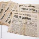 Coleccionismo de Revistas y Periódicos: CONJUNTO DE 37+2 DIARIOS / PERIÓDICOS GUERRA CIVIL EN CATALÁN - DIARI DE CATALUNYA, AÑOS 1937 Y 1938. Lote 160346214