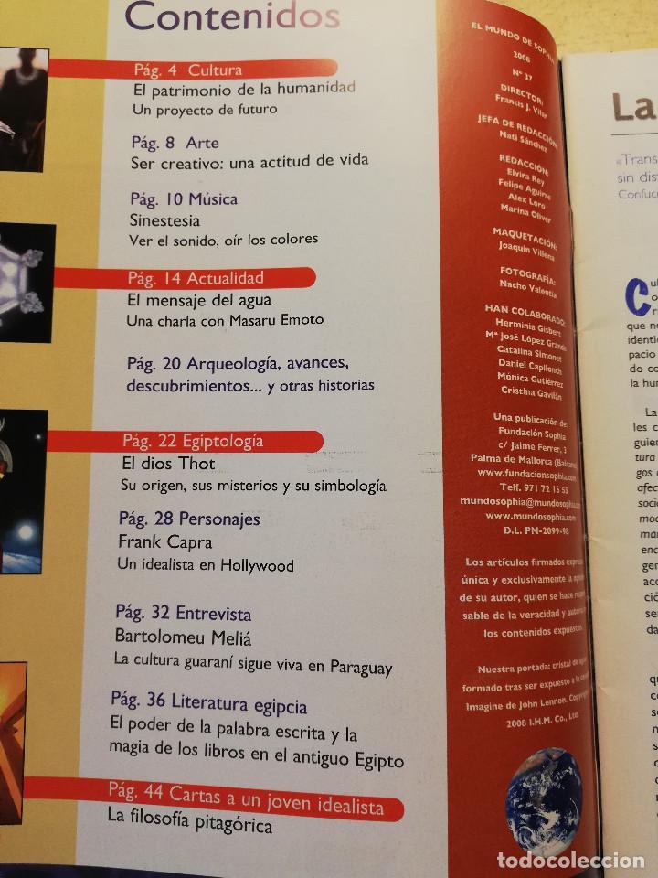 Coleccionismo de Revistas y Periódicos: EL MUNDO DE SOPHIA Nº 37 (EL MENSAJE DEL AGUA) - Foto 2 - 160466026