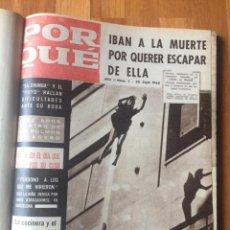 Coleccionismo de Revistas y Periódicos: POR QUÉ REVISTA DE CRÍMENES Y SUCESOS - NÚMEROS 1 A 14 (1960) DIRIGIDA POR ENRIQUE RUBIO. Lote 160475718
