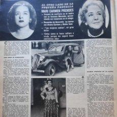 Coleccionismo de Revistas y Periódicos: MARI CARMEN PRENDES. Lote 160483978