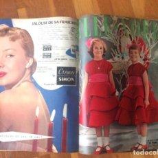 Coleccionismo de Revistas y Periódicos: 16 NÚMEROS REVISTA FEMENINA ELLE AÑO 1953. Lote 160500430