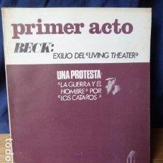 Coleccionismo de Revistas y Periódicos: PRIMER ACTO N.89. Lote 160527670