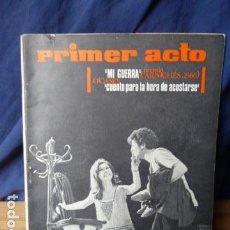 Coleccionismo de Revistas y Periódicos: PRIMER ACTO N.80. Lote 160530022