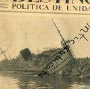 Coleccionismo de Revistas y Periódicos: PERIODICO 1939 EL RESCATE DE LOS BARCOS HUNDIDOS EN EL PUERTO DE BARCELONA VILLA MADRID EL URUGUAY . Lote 160548762