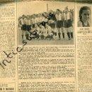 Coleccionismo de Revistas y Periódicos: PERIODICO 1939 POSGUERRA BOXEO SIMO VILANOVA REAL CLUB DEPORTIVO ESPAÑOL FUTBOL CAMPEON DE CATALUÑA. Lote 160548818