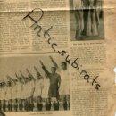 Coleccionismo de Revistas y Periódicos: PERIODICO 1939 POSGUERRA EL SEVILLA CAMPEON DE FUTBOL FORTUNY HUMOR FASCISTA CONTRA NEGRIN . Lote 160549066