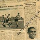 Coleccionismo de Revistas y Periódicos: PERIODICO 1939 POSGUERRA FUTBOL EL ESPAÑOL CAMPEON HILARIO MARTINEZ BOXEO CIRCO LOS PAYASOS ANDREU . Lote 160549274