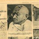 Coleccionismo de Revistas y Periódicos: DESTINO AÑO 1939 POSGUERRA PERIODICO INDIA GHANDI EL MONASTERIO DE POBLET PINTOR MIQUEL VILLA. Lote 160549410