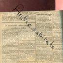 Coleccionismo de Revistas y Periódicos: PERIODICO AÑO 1938 PERSECUCION DE LOS JUDIOS EN ALEMANIA JUAN DOMENECH CNT ANGEL PESTAÑA MEXICO. Lote 160551250
