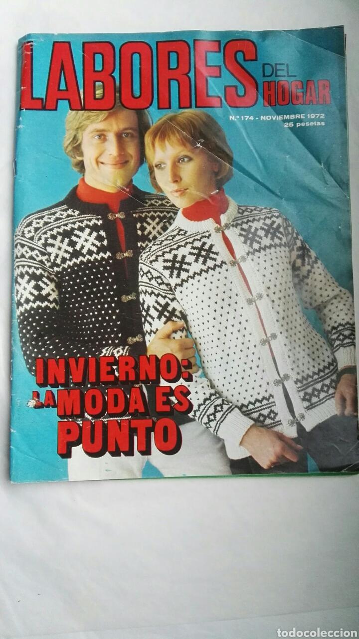 LABORES DEL HOGAR NOVIEMBRE 1972 PUNTO INVIERNO CON PATRONES (Coleccionismo - Revistas y Periódicos Modernos (a partir de 1.940) - Otros)