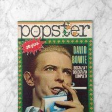 Coleccionismo de Revistas y Periódicos: POSTER - DAVID BOWIE - BIOGRAFIA Y DISCOGRAFIA COMPLETA - 1976. Lote 160588522