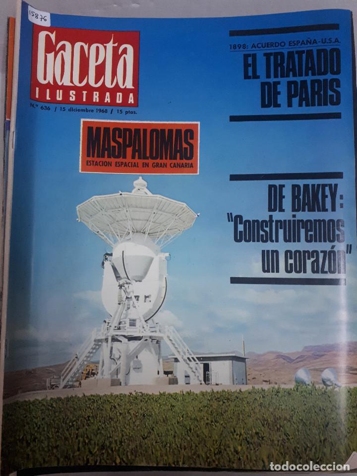 15876 - REVISTA - GACETA ILUSTRADA - Nº 636 - AÑO 1968 (Coleccionismo - Revistas y Periódicos Modernos (a partir de 1.940) - Otros)