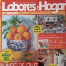 Coleccionismo de Revistas y Periódicos: LABORES DEL HOGAR. N 504 NOVIEMBRE 2000 PUNTO DE CRUZ. Lote 160805910