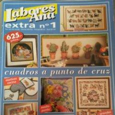 Coleccionismo de Revistas y Periódicos: LAS LABORES DE ANA. EXTRA N 1. CUADROS A PUNTO DE CRUZ. Lote 160807188