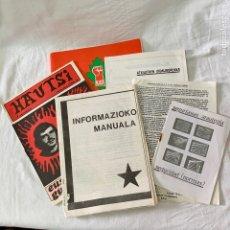 Coleccionismo de Revistas y Periódicos: LOTE DOCUMENTOS MILITANTE ETA HAUTSI MANUAL INFORMES PARA ATENTADOS SEGURIDAD DETENIDO E.T.A. KAS. Lote 160817505