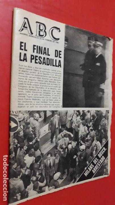 PERIODICO ABC EL FINAL DE LA PESADILLA FEBRERO 1981 (Coleccionismo - Revistas y Periódicos Modernos (a partir de 1.940) - Otros)