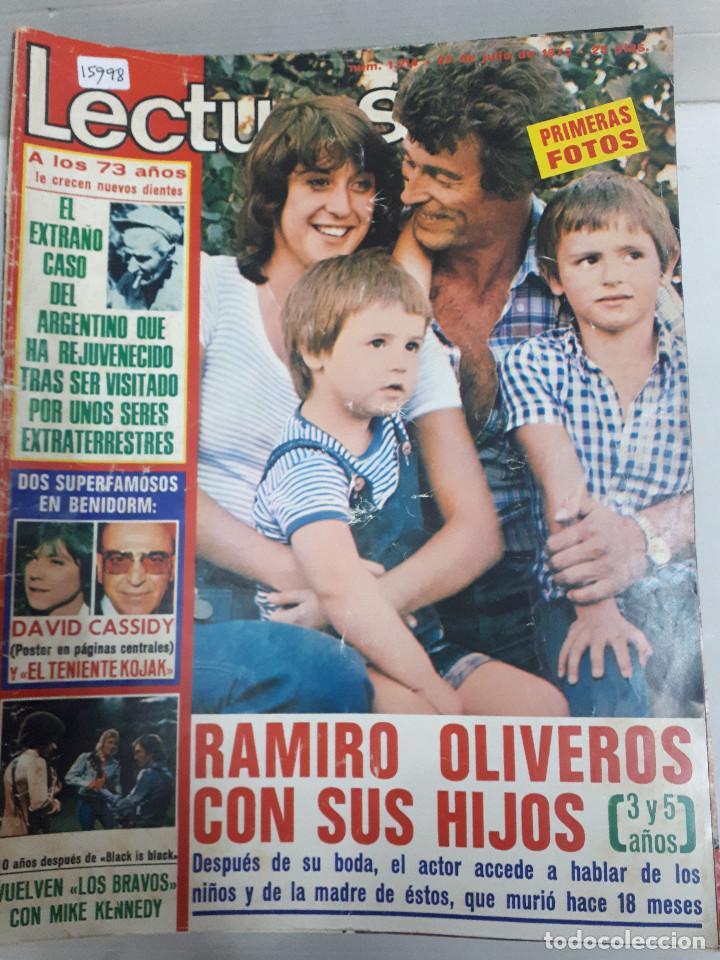 15998 - REVISTA - LECTURAS - Nº 1214 - AÑO 1975 - EN PORTADA RAMIRO OLIVEROS - INCLUYE POSTER (Coleccionismo - Revistas y Periódicos Modernos (a partir de 1.940) - Otros)