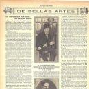 Coleccionismo de Revistas y Periódicos: 1912 HOJA REVISTA MADRID EXPOSICIÓN NACIONAL BELLAS ARTES COMISARIO REGIO ALEJANDRO SAINT AUBIN. Lote 160983570