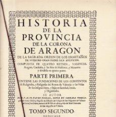Coleccionismo de Revistas y Periódicos: ALCOY - FACSIMIL - HISTORIA DE LA PROVINCIA DE LA CORONA DE ARAGON - LIBROS LLORENS 1994. Lote 161124578