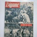 Coleccionismo de Revistas y Periódicos: REVISTA DIGAME - AÑO XXIV. Nº 1216, 23 ABRIL 1963. LA FERIA DE SEVILLA. CAR135. Lote 161139882