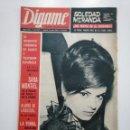 Coleccionismo de Revistas y Periódicos: REVISTA DIGAME - AÑO XXVI Nº 1313, 2 MARZO DE 1965. SOLEDAD MIRANDA NOVIA DE EL CORDOBES. CAR135. Lote 161141130