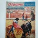 Coleccionismo de Revistas y Periódicos: REVISTA DIGAME - ROTATIVO GRAFICO SEMANAL. MARZO DE 1962. NUMERO EXTRAORDINARIO DE TOROS. CAR135. Lote 161147542