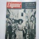 Coleccionismo de Revistas y Periódicos: REVISTA DIGAME - AÑO XXIX Nº 1236, 10 SEPTIEMBRE DE 1963. LA LOLLO EN VENECIA CAR135. Lote 161148602