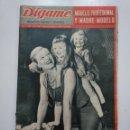 Coleccionismo de Revistas y Periódicos: REVISTA DIGAME - AÑO XXII Nº 1180, 14 AGOSTO 1962. MODELO PROFESIONAL Y MADRE MODELO. CAR135. Lote 161154094