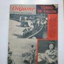 Coleccionismo de Revistas y Periódicos: REVISTA DIGAME - AÑO XXII Nº 1172, 19 JUNIO 1962. TOREO DE SALON. CAR135. Lote 161155714