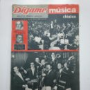 Coleccionismo de Revistas y Periódicos: REVISTA DIGAME - AÑO XXII Nº 1171, 12 JUNIO 1962. MUSICA CLASICA JAZZ. CAR135. Lote 161156014