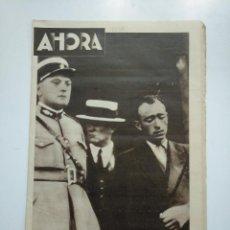 Coleccionismo de Revistas y Periódicos: DIARIO AHORA Nº 1076. 30 DE MAYO DE 1934. CATASTROFE DE LIPOSTHEY. MURIERON 13 TURISTAS. CAR135. Lote 161211470