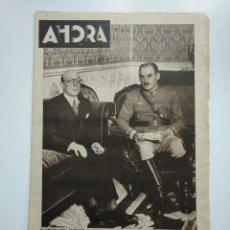 Coleccionismo de Revistas y Periódicos: DIARIO AHORA Nº 1063. 15 DE MAYO DE 1934. EL CORONEL FERNANDO CAPAZ EN MADRID. CAR135. Lote 161215490