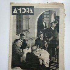 Coleccionismo de Revistas y Periódicos: DIARIO AHORA Nº 1061. 12 DE MAYO DE 1934. UNA COMIDA DE TRASCENDENCIA POLITICA. CAR135. Lote 161225050